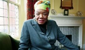 Maya Angelou.Photograph by Martin Godwin.    04-06-1999.