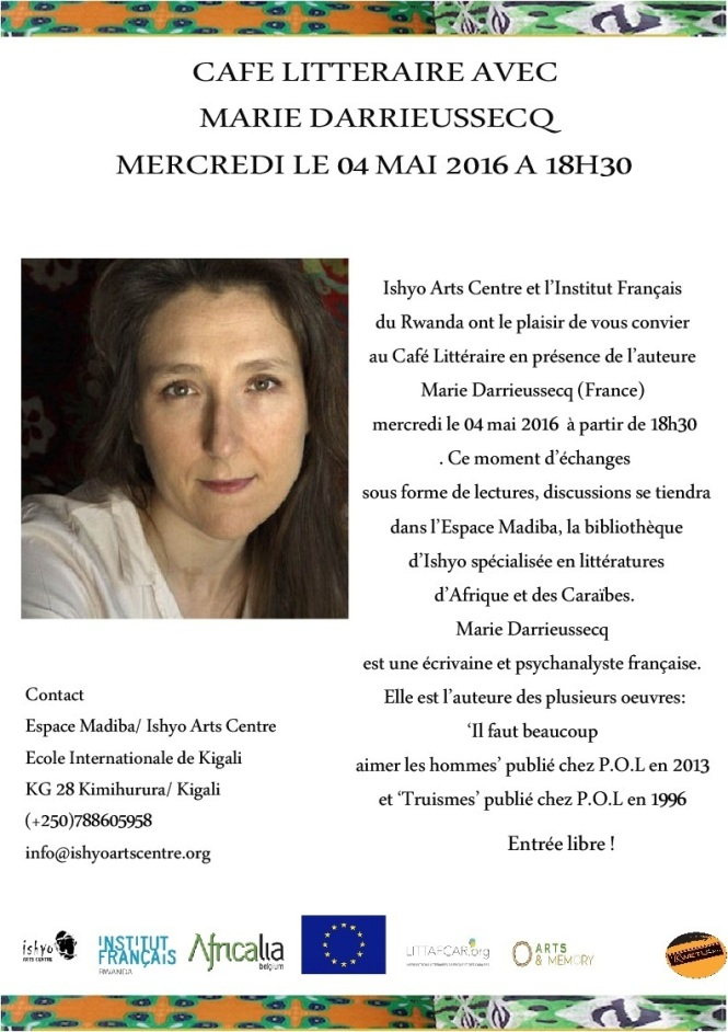 affiche cafe litteraire Marie D. 04 mai 2016